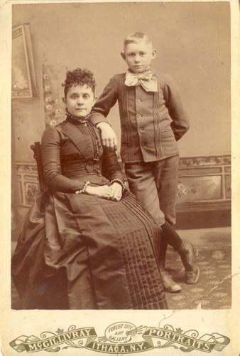 Elizabeth A. Williams Purdy with son, Burt Samuel