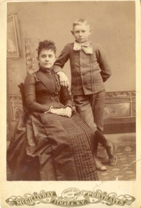 Elizabeth A. Williams Purdy with son, Burt Samuel