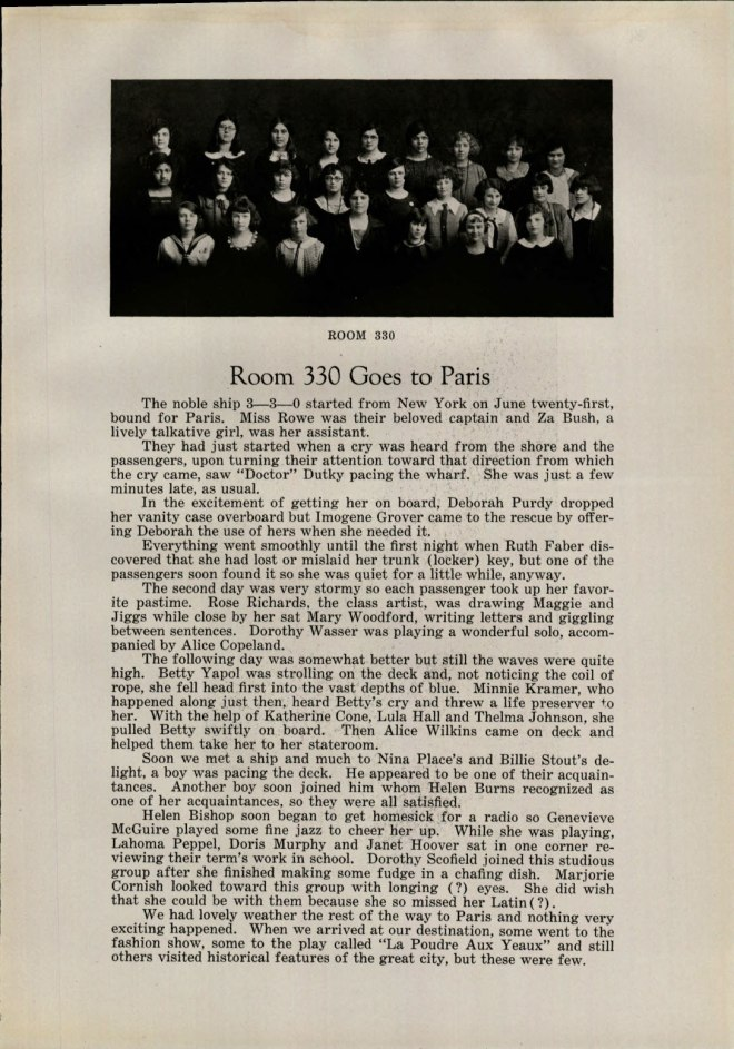 Ithaca High School 1924 Class of Freshmen