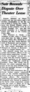 Rochester NY Daily Record Thu 14 Nov 1940 Florence L Purdy lawsuit against siblings
