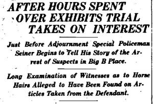 Rochester Democrat and Chronicle Wed 6 March 1907 Trial Evidence