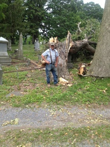 May 30, 2013 Storm Damage at Lakeview Cemetery
