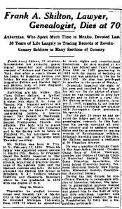 Newspaper Auburn NY Citizen Frank Avery Skilton Obit1931 - 0050