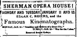 Newark NY Union Sat Jan 9 1897 Edgar O Rogers Sherman Opera House Lecture