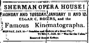 Newark NY Union Sat Jan 9 1897 Edgar O Rogers Sherman Opera House Lecture
