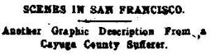 Newspaper Auburn NY Semi-Weekly Journal  15 May 1906 Scenes From San Fran