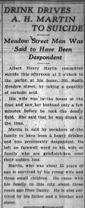 Albert H Martin Ithaca Daily News Death 1911