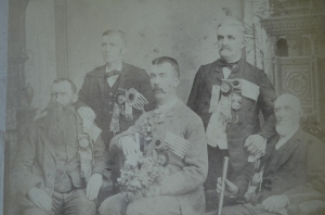 Order of the Sons of St. George.  David Penird is seated, far left