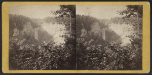 Stereopticon Slide.  Taughannock Falls.