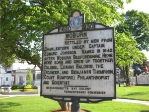 Captain Edward Johnson Historical Plaque Woburn MA