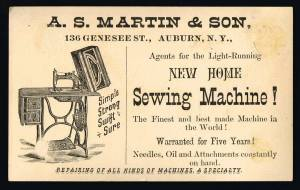 A S Martin Victorian Business Card Back