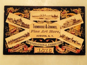 Trowbridge and Jennings 1876 Exhibition Card