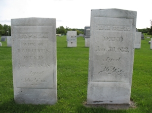 David and Sophia Greene Curtis Tombstones