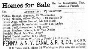 Directory of Auburn 1888 David and George Penird Green St crop