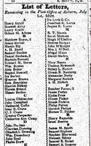 Obadiah  Downing Letter 1828