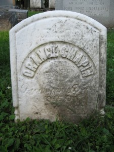 Orange Chapin Tombstone