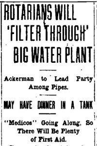 Newspaper Auburn NY Citizen 5 Sep 1918 Rotarians have dinner at the WP tanks