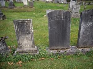 Samuel Smith, Achsah Smith Newton and Stephen Newton monuments.  Evergreen Cemetery, Cazenovia, New York
