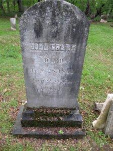 John Learn Monument.  Miller Cemetery, Lansing, NY