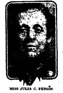 Newspaper Auburn NY Citizen 1928 Julia C. Ferris image