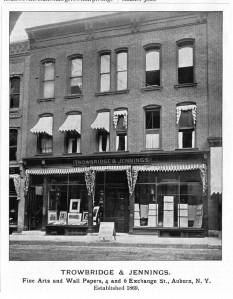 Trowbridge & Jennings Art Store in Auburn, New York.