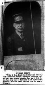 Conductor Hiram M. Titus of Auburn, New York
