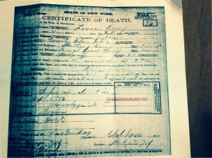 F J Curry Death Certificate r