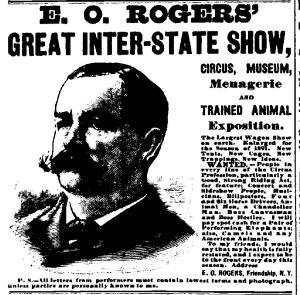 New York NY Clipper 1890-1891 - 0671 E O Rogers display ad