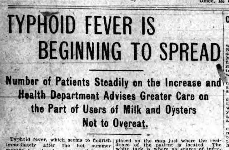 Daily Star 21 Jul 1905 Heat Wave and Typhoid headline