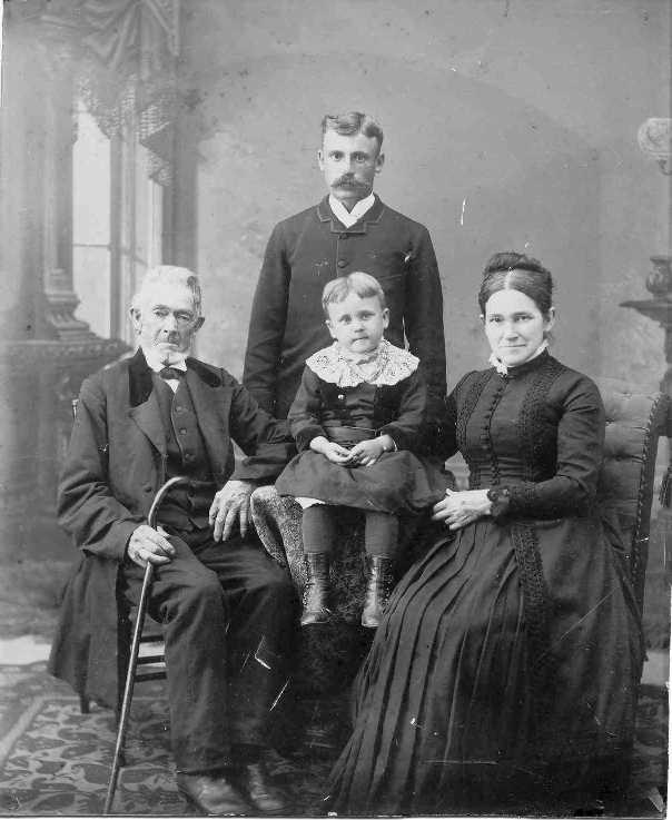 L to R: John B Swain, his son-in-law Martin Van Aken and his daughter Martha Swain Van Aken.
