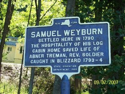 S Weyburn NYS Marker outside Taughannock Trail Entrance