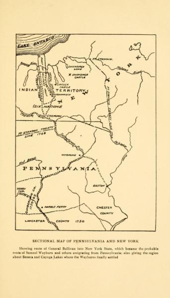 Migration Trail of Samuel Weyburn